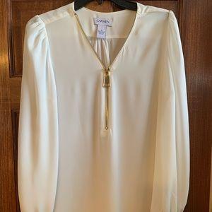 Tops - White tunic long sleeve top